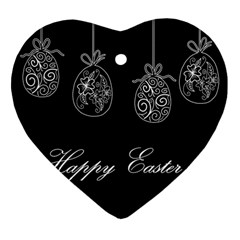 Easter Eggs Heart Ornament (two Sides) by Valentinaart