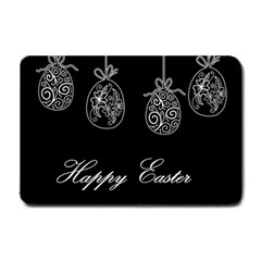 Easter Eggs Small Doormat  by Valentinaart