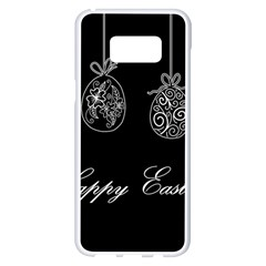 Easter Eggs Samsung Galaxy S8 Plus White Seamless Case by Valentinaart
