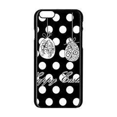 Easter Eggs Apple Iphone 6/6s Black Enamel Case by Valentinaart