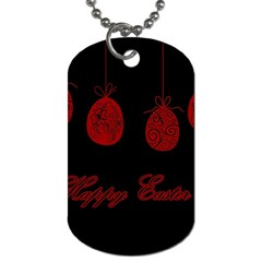 Easter Eggs Dog Tag (two Sides)