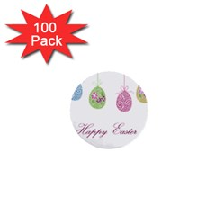 Easter Eggs 1  Mini Buttons (100 Pack)
