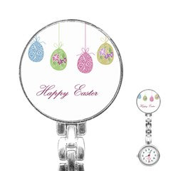 Easter Eggs Stainless Steel Nurses Watch by Valentinaart