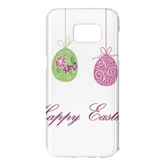 Easter Eggs Samsung Galaxy S7 Edge Hardshell Case by Valentinaart