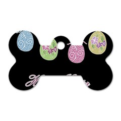 Easter Eggs Dog Tag Bone (two Sides) by Valentinaart