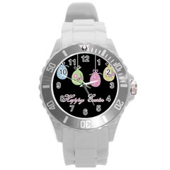 Easter Eggs Round Plastic Sport Watch (l) by Valentinaart