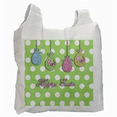 Easter Eggs Recycle Bag (one Side) by Valentinaart