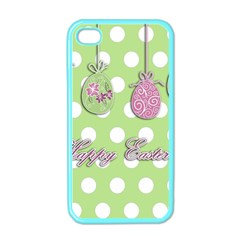 Easter Eggs Apple Iphone 4 Case (color) by Valentinaart