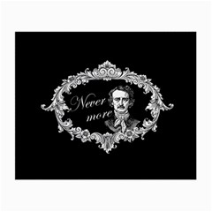 Edgar Allan Poe    Never More Small Glasses Cloth (2 Side) by Valentinaart