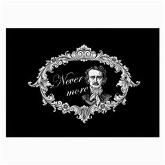 Edgar Allan Poe    Never More Large Glasses Cloth by Valentinaart