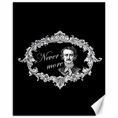 Edgar Allan Poe    Never More Canvas 11  X 14   by Valentinaart