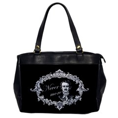Edgar Allan Poe    Never More Office Handbags by Valentinaart