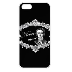 Edgar Allan Poe    Never More Apple Iphone 5 Seamless Case (white) by Valentinaart