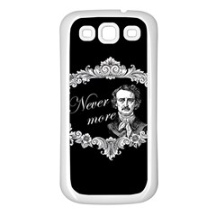 Edgar Allan Poe    Never More Samsung Galaxy S3 Back Case (white) by Valentinaart