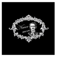 Edgar Allan Poe    Never More Large Satin Scarf (square)
