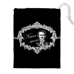 Edgar Allan Poe    Never More Drawstring Pouches (xxl) by Valentinaart