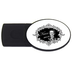 Edgar Allan Poe    Never More Usb Flash Drive Oval (4 Gb) by Valentinaart