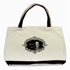Edgar Allan Poe    Never More Basic Tote Bag by Valentinaart