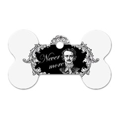 Edgar Allan Poe    Never More Dog Tag Bone (one Side) by Valentinaart