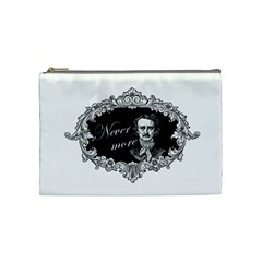 Edgar Allan Poe    Never More Cosmetic Bag (medium)  by Valentinaart