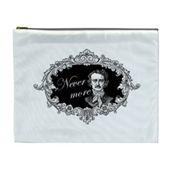 Edgar Allan Poe    Never More Cosmetic Bag (xl) by Valentinaart