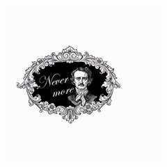 Edgar Allan Poe    Never More Small Garden Flag (two Sides) by Valentinaart
