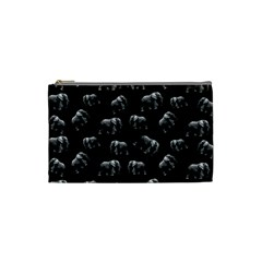 Elephant Pattern Cosmetic Bag (small)  by Valentinaart
