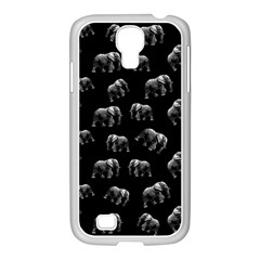 Elephant Pattern Samsung Galaxy S4 I9500/ I9505 Case (white)