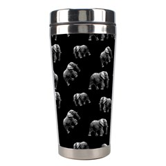 Elephant Pattern Stainless Steel Travel Tumblers by Valentinaart