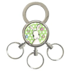 Easter Bunny  3 Ring Key Chains by Valentinaart