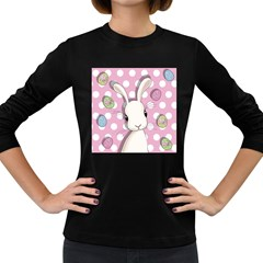 Easter Bunny  Women s Long Sleeve Dark T Shirts