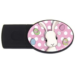 Easter Bunny  Usb Flash Drive Oval (4 Gb)