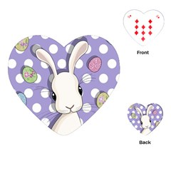 Easter Bunny  Playing Cards (heart)