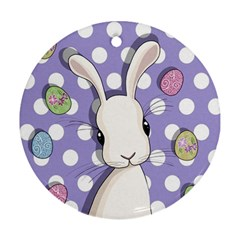 Easter Bunny  Round Ornament (two Sides)