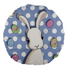 Easter Bunny  Large 18  Premium Flano Round Cushions by Valentinaart