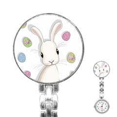 Easter Bunny  Stainless Steel Nurses Watch by Valentinaart