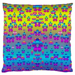 Flowers In The Most Beautiful Sunshine Large Cushion Case (one Side) by pepitasart