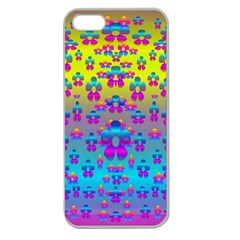 Flowers In The Most Beautiful Sunshine Apple Seamless Iphone 5 Case (clear)