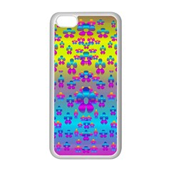 Flowers In The Most Beautiful Sunshine Apple Iphone 5c Seamless Case (white) by pepitasart