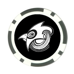 Bird Poker Chip Card Guard by ValentinaDesign