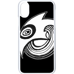 Bird Apple Iphone X Seamless Case (white) by ValentinaDesign