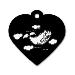 Bird Dog Tag Heart (one Side) by ValentinaDesign
