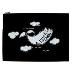 Bird Cosmetic Bag (xxl)  by ValentinaDesign