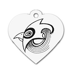Bird Dog Tag Heart (two Sides) by ValentinaDesign