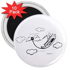 Bird 3  Magnets (10 Pack)