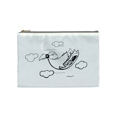 Bird Cosmetic Bag (medium)  by ValentinaDesign
