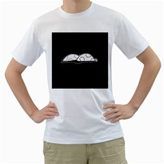 Turtle Men s T Shirt (white) (two Sided)