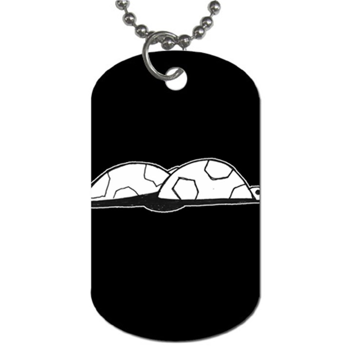 Turtle Dog Tag (One Side)