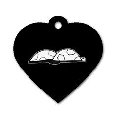 Turtle Dog Tag Heart (one Side)
