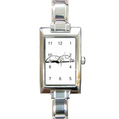 Turtle Rectangle Italian Charm Watch